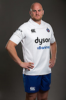 Matt Garvey poses for a photo during a Bath Rugby photoshoot on August 9, 2017 at Farleigh House in Bath, England. Photo by: Rogan Thomson for Onside Images