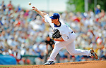 12 March 2008: Los Angeles Dodgers' pitcher Chad Billingsley on the mound during a Spring Training game against the Washington Nationals at Holman Stadium, in Vero Beach, Florida. The Nationals defeated the Dodgers 10-4 at the historic Dodgertown ballpark. 2008 marks the final season of Spring Training at Dodgertown for the Dodgers, as the team will move to new training facilities in Arizona starting in 2009 after 60 years in Florida...Mandatory Photo Credit: Ed Wolfstein Photo