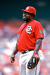 5 August 2007: Washington Nationals All-Star first baseman Dmitri Young in action against the St. Louis Cardinals at RFK Stadium in Washington, DC. The Nationals defeated the Cardinals 6-3 to sweep their 3-game series...Mandatory Photo Credit: Ed Wolfstein Photo