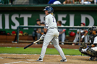 Northwest League All-Star Chris Baker (29) of the Tri-City Dust Devils at bat against the Pioneer League All-Stars at the 2nd Annual Northwest League-Pioneer League All-Star Game at Lindquist Field on August 2, 2016 in Ogden, Utah. The Northwest League defeated the Pioneer League 11-5. (Stephen Smith/Four Seam Images)