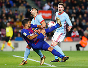 11th January 2018, Camp Nou, Barcelona, Spain; Copa del Rey football, round of 16, 2nd leg, Barcelona versus Celta Vigo; Luis Suarez attempts an overhead kick on goal that misses