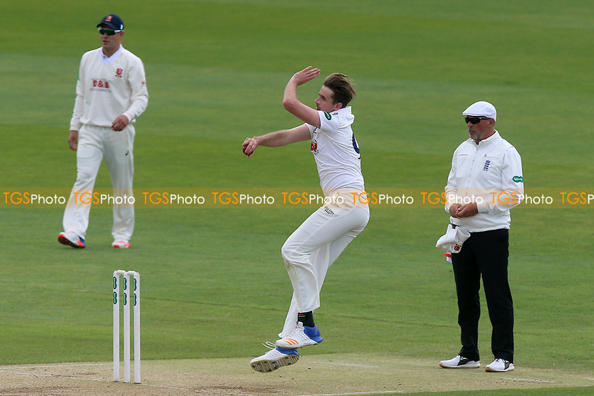 Matt Quinn in bowling action for  during Essex CCC vs Hampshire CCC, Specsavers County Championship Division 1 Cricket at The Cloudfm County Ground on 21st May 2017