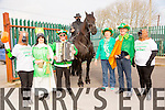 Enjoying the St Patrick's Day parade Castlemaine  on Tuesday   were Liz O'Connor (Anvil Bar),Eileen Courtney (Maine Valley Childcare), John O'Brien Castlemaine, man from the Alamo and Naomi the horse, Bridie O'Brien Keel James O'Brien Castledrum, and Margaret Ashe Keel