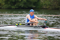 Race: 20  MasF.1x  Quarter-Final<br /> 141  Lakeland Rowing Club (Thomas)<br /> 147  Norwich Rowing Club (Scott)<br /> <br /> Henley Masters Regatta 2018 - Friday<br /> <br /> To purchase this photo, or to see pricing information for Prints and Downloads, click the blue 'Add to Cart' button at the top-right of the page.