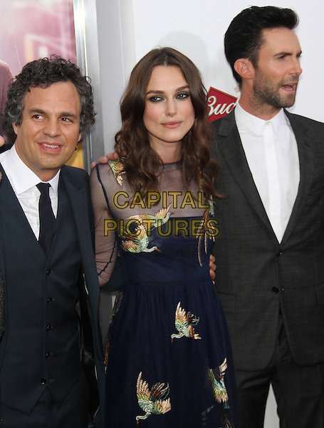 NEW YORK, NY - JUNE 25 : Mark Ruffalo, Keira Knightley and Adam Levine at the Premiere of Begin Again at the SVA Theatre in New York City, June 25, 2014 in New York City.  <br /> CAP/MPI/RW<br /> &copy;RW/ MediaPunch/Capital Pictures