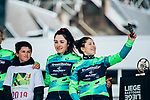 Aromitalia-Basso Bikes-Vaiano at team presentation before the 2019 Liège-Bastogne-Liège Femmes,  running 138.5km from Bastogne to Liege, Belgium. 27th April 2019<br /> Picture: ASO/Thomas Maheux | Cyclefile<br /> All photos usage must carry mandatory copyright credit (© Cyclefile | ASO/Thomas Maheux)