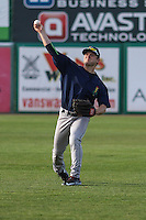 Cedar Rapids Kernels outfielder Max Murphy (13) warms up prior to a game against the Wisconsin Timber Rattlers on May 4th, 2015 at Fox Cities Stadium in Appleton, Wisconsin.  Cedar Rapids defeated Wisconsin 9-3.  (Brad Krause/Four Seam Images)