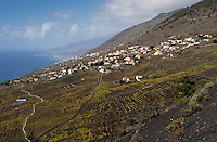 The village of Los Quemados is situated on the volcanic lava ground that the volcano San Antonio left on the Canary Island of La Palma at the eruption in the year 1677.