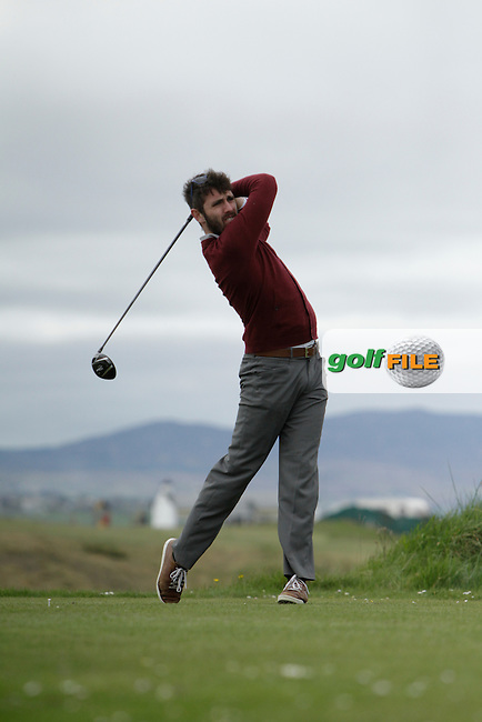 Mark Morrissey (Mount Wolsley) during round 1 of The West of Ireland Amateur Open in Co. Sligo Golf Club on Friday 18th April 2014.<br /> Picture:  Thos Caffrey / www.golffile.ie