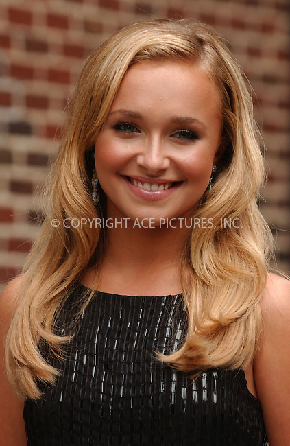 WWW.ACEPIXS.COM . . . . . ....August 20 2007, New york City......Actress Hayden Panettiere at 'The Late Show With David Letterman' at the Ed Sullivan Theatre.....Please byline: KRISTIN CALLAHAN - ACEPIXS.COM.. . . . . . ..Ace Pictures, Inc:  ..(646) 769 0430..e-mail: info@acepixs.com..web: http://www.acepixs.com