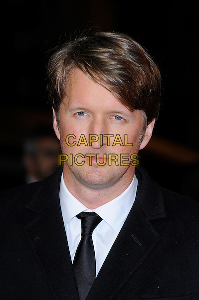 Tom Hooper<br /> attending the 57th BFI London Film Festival Closing Night Gala World Premiere of 'Saving Mr Banks', Odeon Cinema, Leicester Square, London, England. <br /> 20th October 2013<br /> headshot portrait blue suit tie white shirt <br /> CAP/MAR<br /> &copy; Martin Harris/Capital Pictures