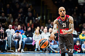 9th February 2018, Aleksandar Nikolic Hall, Belgrade, Serbia; Euroleague Basketball, Crvenz Zvezda mts Belgrade versus AX Armani Exchange Olimpia Milan; Guard Jordan Theodore of AX Armani Exchange Olimpia Milan passes the ball