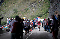 Suisse Champion Sébastien Reichenbach (SUI/Groupama - FDJ) 2 km from the finish in Val thorens<br /> <br /> shortened stage 20: Albertville to Val Thorens (59km in stead of the original 130km due to landslides/bad weather)<br /> 106th Tour de France 2019 (2.UWT)<br /> <br /> ©kramon