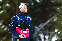1st January 2020, Toblach, South Tyrol , Italy;  Stefan Thomson, womens coach of Sweden ahead of the mens 15 km classic technique pursuit during Tour de Ski on January 1, 2020 in Toblach.