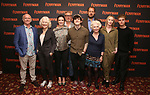 """Mark Lambert, Dearbhla Molloy, Laura Donnelly, Stuart Graham, Fra Fee, Justin Edwards, Fionnula Flanagan, Genevieve O'Reilly and Tom Glynn-Carney attend the Meet the Broadway cast of """"The Ferryman"""" during the press photo call on October 4, 2018 at Sardi's in New York City."""