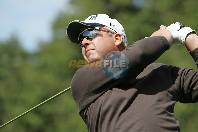 Michael Jonzon tees off on the 1st hole during the final round of the Irish Open on 20th of May 2007 at the Adare Manor Hotel & Golf Resort, Co. Limerick, Ireland. (Photo by Eoin Clarke/NEWSFILE).