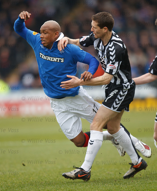 El Hadji Diouf fouled by Hugh Murray