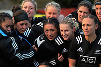 The Black Ferns huddle after the 2017 International Women's Rugby Series rugby match between the NZ Black Ferns and Australia Wallaroos at Rugby Park in Christchurch, New Zealand on Tuesday, 13 June 2017. Photo: Dave Lintott / lintottphoto.co.nz