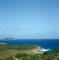 View from the shores of Mustique to surrounding islands in the Caribbean