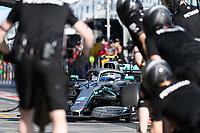 March 15, 2019: Valtteri Bottas (FIN) #77 from the Mercedes AMG Petronas Motorsport team returns to his garage during practice session two at the 2019 Australian Formula One Grand Prix at Albert Park, Melbourne, Australia. Photo Sydney Low