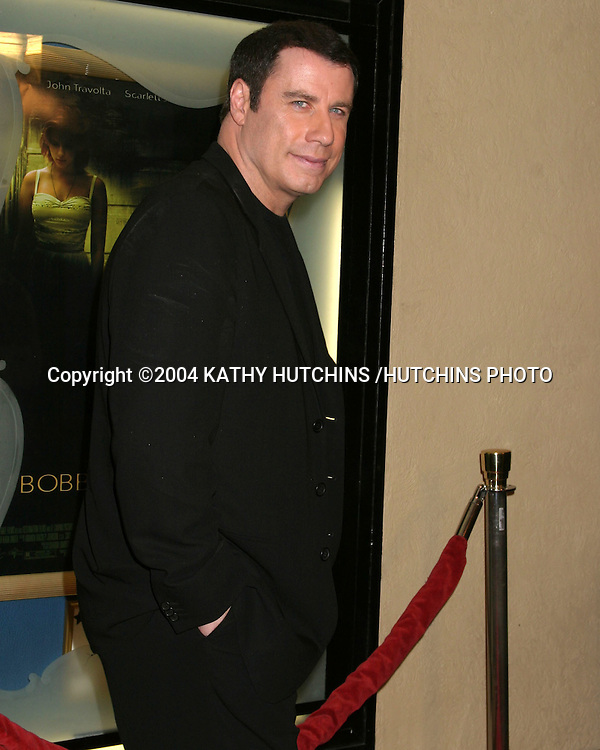 "©2004 KATHY HUTCHINS /HUTCHINS PHOTO.PREMIERE OF ""LOVE SONG FOR BOBBY LONG"" .WESTWOOD, CA.DECEMBER 13, 2004..JOHN TRAVOLTA"