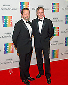 Rob Ashford and Kevin Ryan arrive for the formal Artist's Dinner honoring the recipients of the 2013 Kennedy Center Honors hosted by United States Secretary of State John F. Kerry at the U.S. Department of State in Washington, D.C. on Saturday, December 7, 2013. The 2013 honorees are: opera singer Martina Arroyo; pianist,  keyboardist, bandleader and composer Herbie Hancock; pianist, singer and songwriter Billy Joel; actress Shirley MacLaine; and musician and songwriter Carlos Santana.<br /> Credit: Ron Sachs / CNP