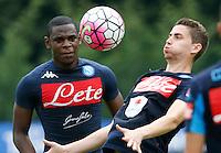 Duvan Zapata  Jorginho  <br /> ritiro precampionato Napoli Calcio a  Dimaro 13<br /> Luglio 2015<br /> <br /> Preseason summer training of Italy soccer team  SSC Napoli  in Dimaro Italy July 13, 2015