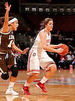 Ohio State Buckeyes guard Cait Craft (13) tries to get past Lehigh Mountain Hawks guard Sarah Williams (14) during the first half of the NCAA women's basketball game at Value City Arena on Wednesday, November 27, 2013. (Columbus Dispatch photo by Jonathan Quilter)