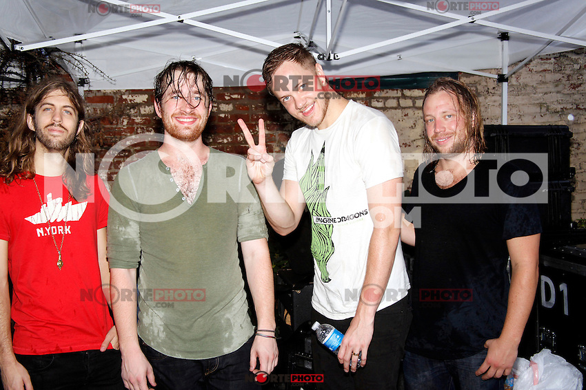 Imagine Dragons portrait taken at Radio 104.5's Final Summer Block Party at the Piazza at Schmidts in Philadelphia, Pa on September 8, 2012  &copy; Star Shooter / MediaPunchInc /NortePhoto.com<br />