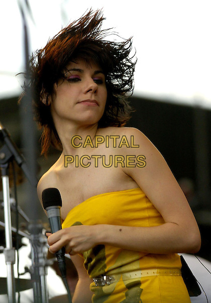 PJ HARVEY.Heineken Jammin' Festival  2004.*UK Sales Only*.half length, stage, concert, gig, singing, strapless, dancing.www.capitalpictures.com.sales@capitalpictures.com.© Capital Pictures.