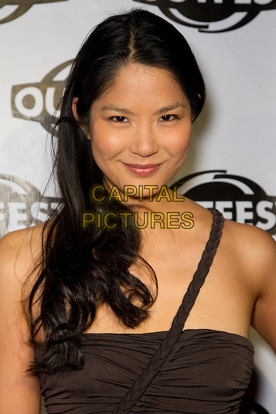LYNN CHEN.Arrivals to a screening of The People I've Slept With, presented by Outfest as part of Fusion: the Los Angeles LGBT People of Color Film Festival, Hollywood, CA, USA, March 13th, 2010. .portrait headshot brown plaited plait one shoulder strap braid .CAP/CEL .©CelPh/Capital Pictures