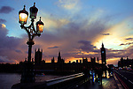 A view of the House of Parliament and Big Ben from the Westminster Bridge.