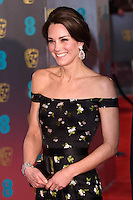 Kate, Duchess of Cambridge<br /> at the 2017 BAFTA Film Awards held at The Royal Albert Hall, London.<br /> <br /> <br /> ©Ash Knotek  D3225  12/02/2017