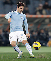 Calcio, semifinale di ritorno di Coppa Italia: Lazio vs Juventus. Roma, stadio Olimpico, 29 gennaio 2013..Lazio midfielder Hernanes, of Brazil, in action during the Italy Cup football semifinal return leg match between Lazio and Juventus at Rome's Olympic stadium, 29 January 2013..UPDATE IMAGES PRESS/Riccardo De Luca