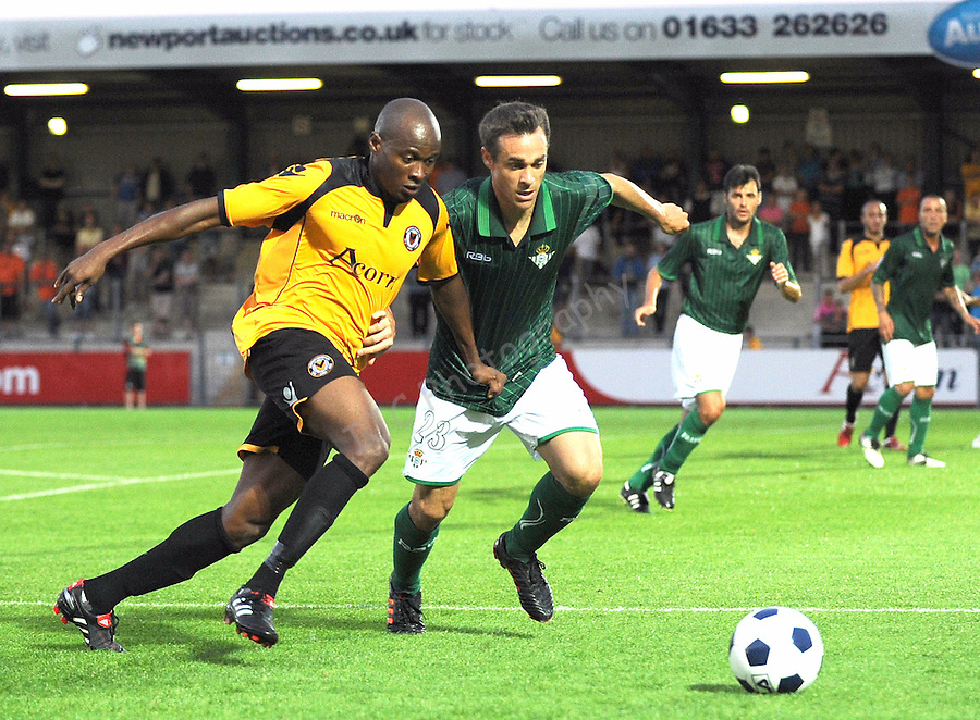 ..Football  - Friendly - Newport County  v Real Betis - Wed 08 Aug 2011 - Spitty Stadium,  - Newport..© www.ijcsports.co.uk - PLEASE CREDIT IAN COOK