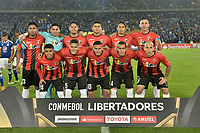 BOGOTA - COLOMBIA, 17-04-2018: Jugadores de Lara posan para una foto previo al partido entre Millonarios de Colombia y Deportivo Lara de Venezuela por la fecha 3, grupo G, de la CONMEBOL Libertadores 2018 jugado en el estadio Nemesio Camacho El Campin de la ciudad de Bogotá. / Players of Lara pose to a photo prior the match between Millonarios of Colombia and Deportivo Lara of Venezuela for the date 3, group G, of the CONMEBOL Libertadores 2018 played at Nemesio Camacho El Campin stadium in Bogota city. Photo: VizzorImage / Gabriel Aponte / Staff.