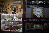 Bernsteinverkauf in Kaliningrad./<br />