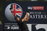 Ashley Chesters (ENG) on the 12th tee during Round 1of the Sky Sports British Masters at Walton Heath Golf Club in Tadworth, Surrey, England on Thursday 11th Oct 2018.<br /> Picture:  Thos Caffrey | Golffile<br /> <br /> All photo usage must carry mandatory copyright credit (© Golffile | Thos Caffrey)