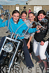 Trying out one of the many bikes on show in Lisselton on Saturday were Aoife Behan, Rebecca Lynch, Muireann Kissane and Laura Murphy, all from Lisselton.....   Copyright Kerry's Eye 2008