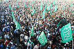 Palestinian Hamas supporters attend a protest in front of the Rafah border crossing against the closure of the border in the southern Gaza Strip. Since Hamas' takeover, Gaza's main border crossings have largely been closed, including the Rafah crossing with Egypt, drawing criticism from some aid groups.