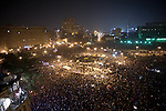Remi OCHLIK/IP3 -  Tahrir Square in Cairo November 22, 2011 - General view of Tahrir square at night. ..Egyptians frustrated by army rule battled police in Cairo streets again on Tuesday as the military struggled to cope with a challenge to its authority that has jolted plans for the country's first free election in decades..Thousands of people defied tear gas wafting across Cairo's Tahrir Square, the hub of protests swelling since Friday into the biggest crisis yet for the generals who took over from Hosni Mubarak and who seem reluctant to relinquish their power.