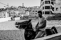 Alaa Mustafa, 24, trains a pure breed Arabian horse, named Rawnaq at a stable in the neighborhood of Essawiya on June 07, 2016 in East Jerusalem. <br /> Photo Daniel Berehulak for the New York Times