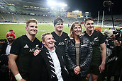 16th June 2017, Eden Park, Auckland, New Zealand; International Rugby Pasifika Challenge; New Zealand versus Samoa;  Brothers Jordie, Scott and Beauden Barrett of New Zealand pose for a photo with their parents after the match