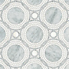 Baby Venus, a waterjet and hand-cut stone mosaic, shown in honed Dolomite and polished Carrara.