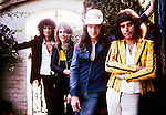 Queen 1975 Brian May, Roger Taylor, John Deacon and Freddie Mercury..© Chris Walter..