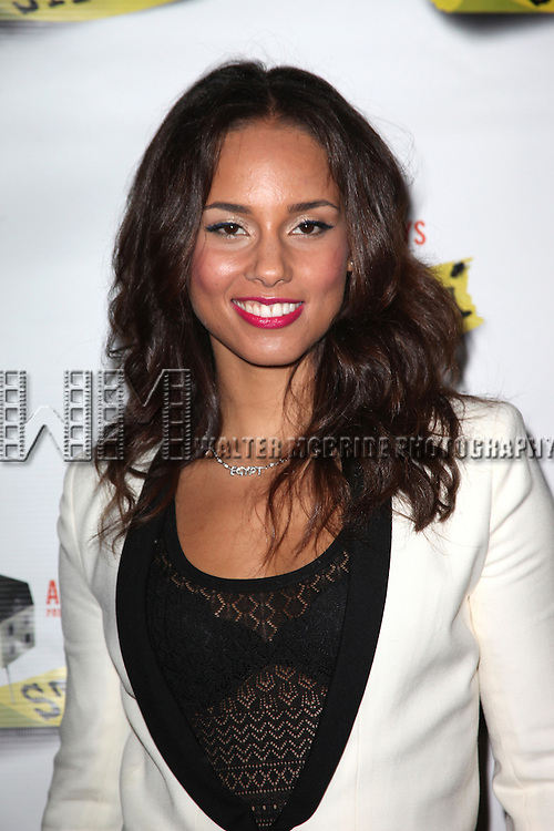 Alicia Keys.attending the Broadway Opening Night Performance of 'Stick Fly' at the Cort Theatre in New York City.