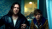 Attack the Block (2011) <br /> Nick Frost &amp; Luke Treadaway<br /> *Filmstill - Editorial Use Only*<br /> CAP/KFS<br /> Image supplied by Capital Pictures