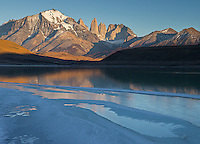 The towers of Paine are a popular photographic subject.