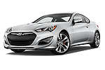 Stock pictures of low aggressive front three quarter view of2015 Hyundai Genesis Coupe 3.8T 8-Speed A/T 2 Door Coupe 2WD Low Aggressive