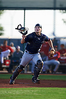 Cleveland Indians Jack Goihl (9) during an instructional league game against the Cincinnati Reds on October 17, 2015 at the Goodyear Ballpark Complex in Goodyear, Arizona.  (Mike Janes/Four Seam Images)